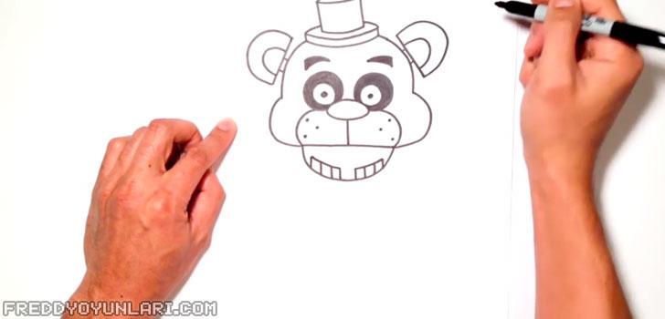 FNAF'tan Freddy'nin başı, kulağı ve şapkası